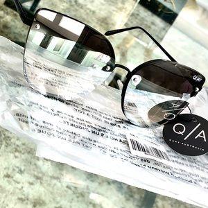 Quay Australia Lexi Sunglasses Black Silver